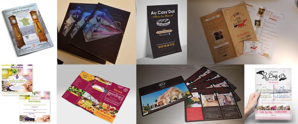 Imprimerie traditionnelle et papeterie flyers, brochures, dépliants et cartes de visites par LBF